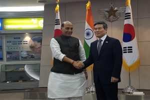 Defence Minister Rajnath Singh signs two MoUs with South Korea