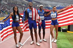 World Athletics Championships: Allyson Felix helps USA win gold, surpasses Bolt's tally of gold medals