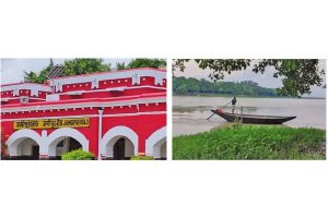 Jangipur's historic toll tax office submerged by the Ganga, but restored railway station stands proud