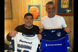 Diego Maradona takes charge of Argentine Superliga side Gimnasia