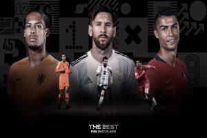 Lionel Messi, Cristiano Ronaldo, Virgil van Dijk named finalists in Best FIFA Men's Player award