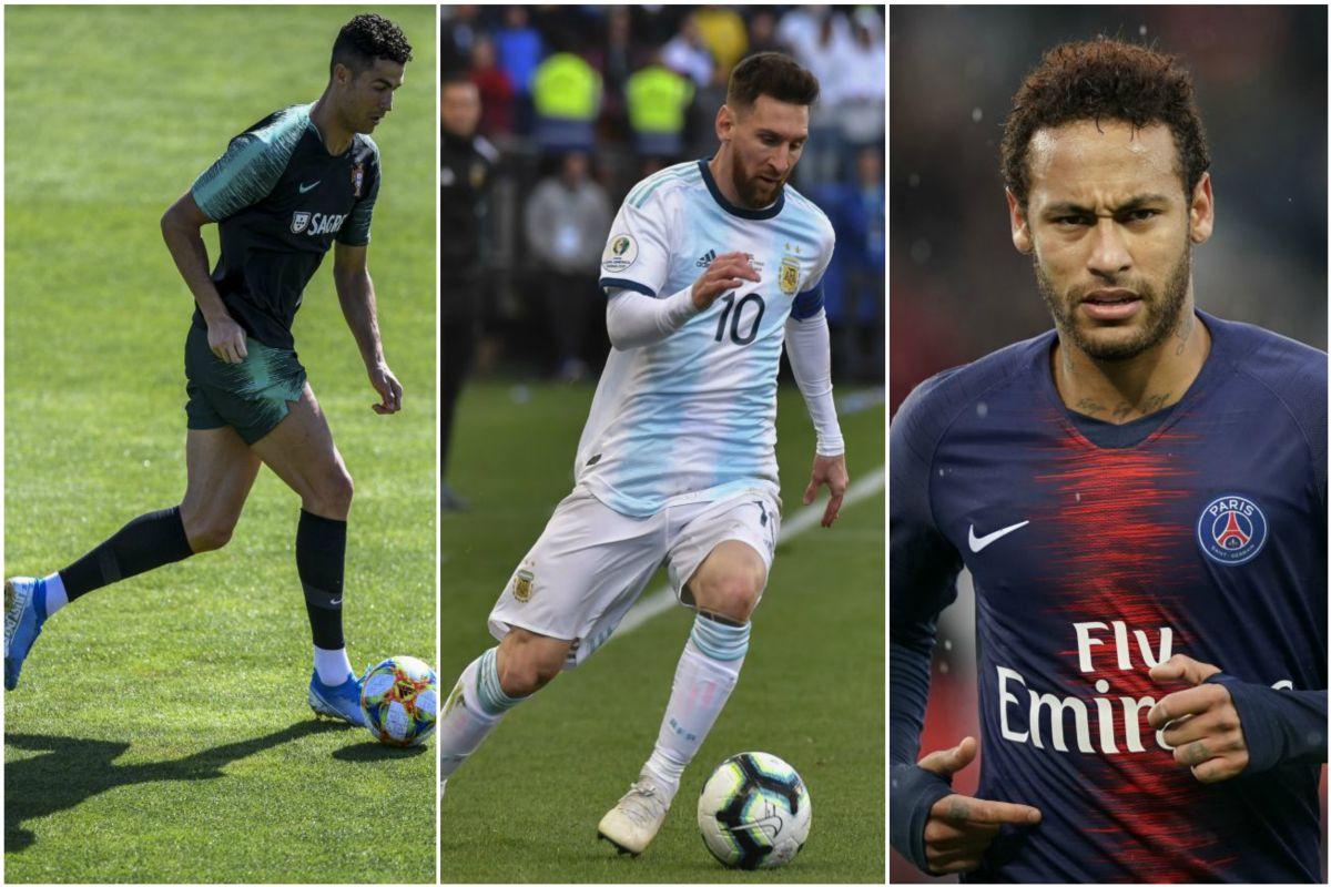 Cristiano Ronaldo, Lionel Messi, Tite, Brazil, Neymar, Eden Hazard