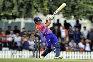 Paras Khadka hits first-ever T20I century for Nepal