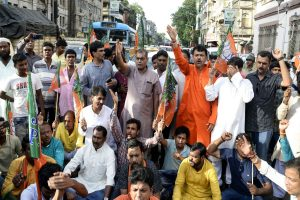 BJP workers arrested for blocking road, party says women activists manhandled