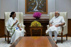 Mamata Banerjee meets Narendra Modi, raises issue of renaming Bengal