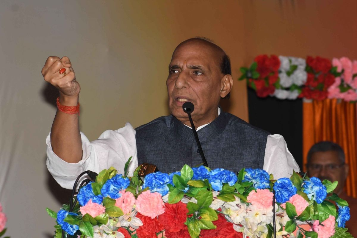 Pakistan would split into pieces, says Rajnath Singh