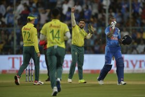Tabraiz Shamsi explains 'shoe celebration' after dismissing Shikhar Dhawan in 3rd T20I