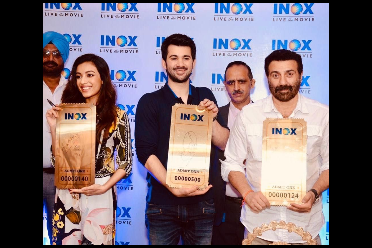 INOX, Reliance Mall, Punjab, Multiplex, cinema, Movies, Sunny Deol, Karan Deol , Sahher Bambba