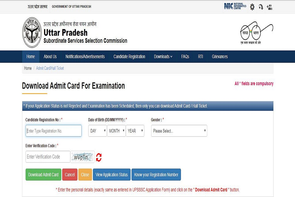 UPSSSC admit cards 2019 released for lower subordinate competitive exam at upsssc.gov.in | Download now