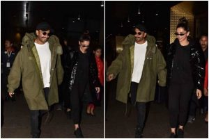 Ranveer Singh, Deepika Padukone back in India after '83 wrap-up
