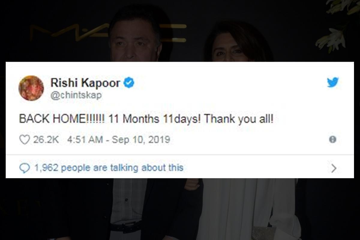 Rishi Kapoor, New York, Cancer, Neetu Kapoor, Health, Chandni, Shah Rukh Khan, Aamir Khan, Priyanka Chopra, Karan Johar