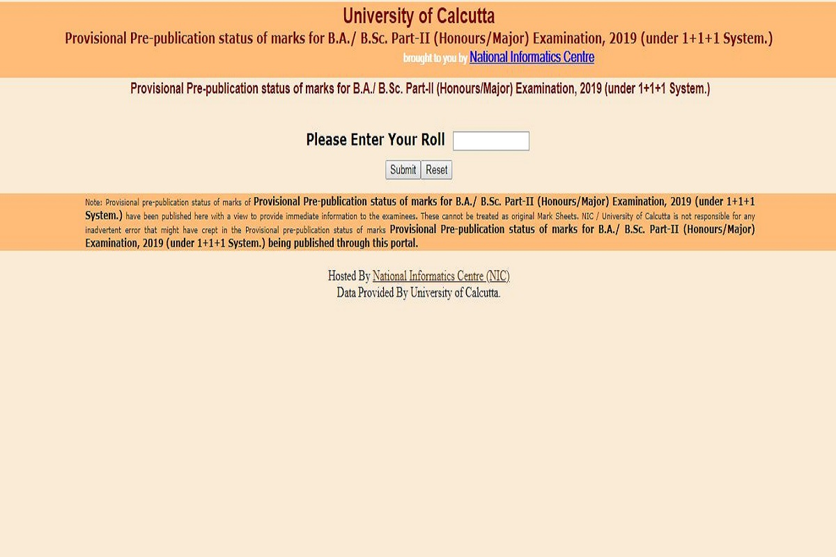 Calcutta University B.A./ B.Sc. Part-II results 2019 declared at wbresults.nic.in | Direct link here