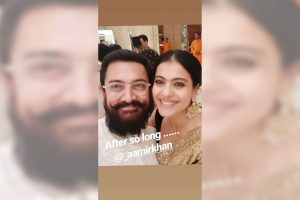 Aamir Khan, Kajol thrilled to meet 'after so long'