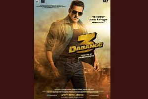 100 days to Dabangg 3; first look poster of Salman Khan starrer out