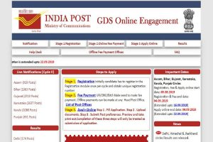 India Post recruitment 2019: Application process extended to September 22, apply at appost.in