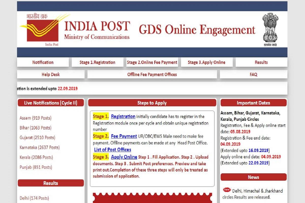 India Post recruitment 2019, appost.in, India Post recruitment, India Post Gramin Dak Sevak recruitment