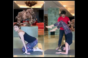 Shilpa Shetty sets fitness goals, nails Vrischikasana pose