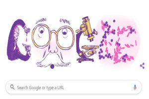 Google doodle celebrates 166th birth anniversary of Danish microbiologist Hans Christian Joachim Gram