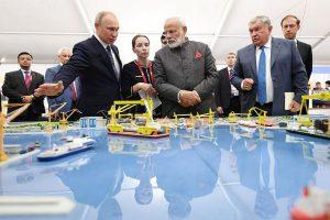 PM Modi, Putin exchange hugs and handshakes, visit Zvezda shipbuilding facility