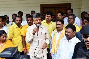 Behind locked gates, Chandrababu Naidu warns Jagan Reddy govt, police, says 'black day' for AP