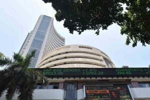 Sensex ends a shade lower, auto stocks gain