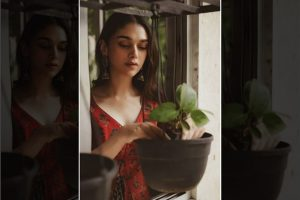 Aditi Rao Hydari plants sapling, shares on social media
