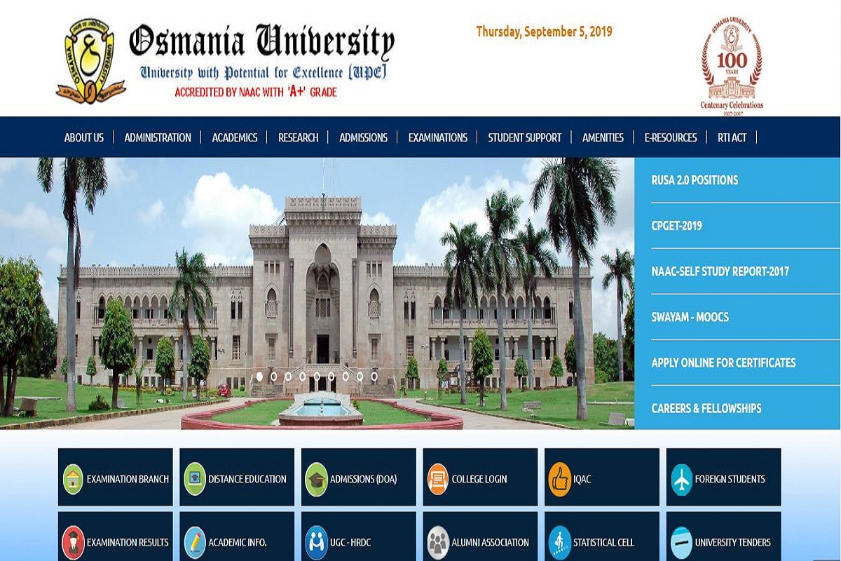 Osmania University MEd results 2019 declared at osmania.ac.in | Direct link here