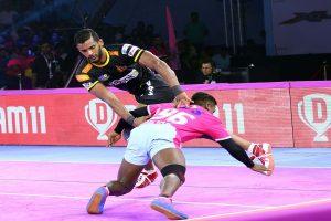 PKL 7: Siddharth helps Telugu Titans thrash Jaipur Pink Panthers 51-31