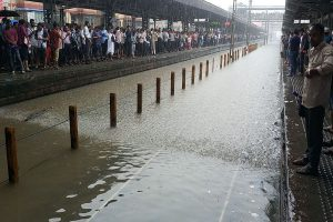 Mumbai rains: Red alert issued, road, rail traffic hit; BMC asks people to stay indoors