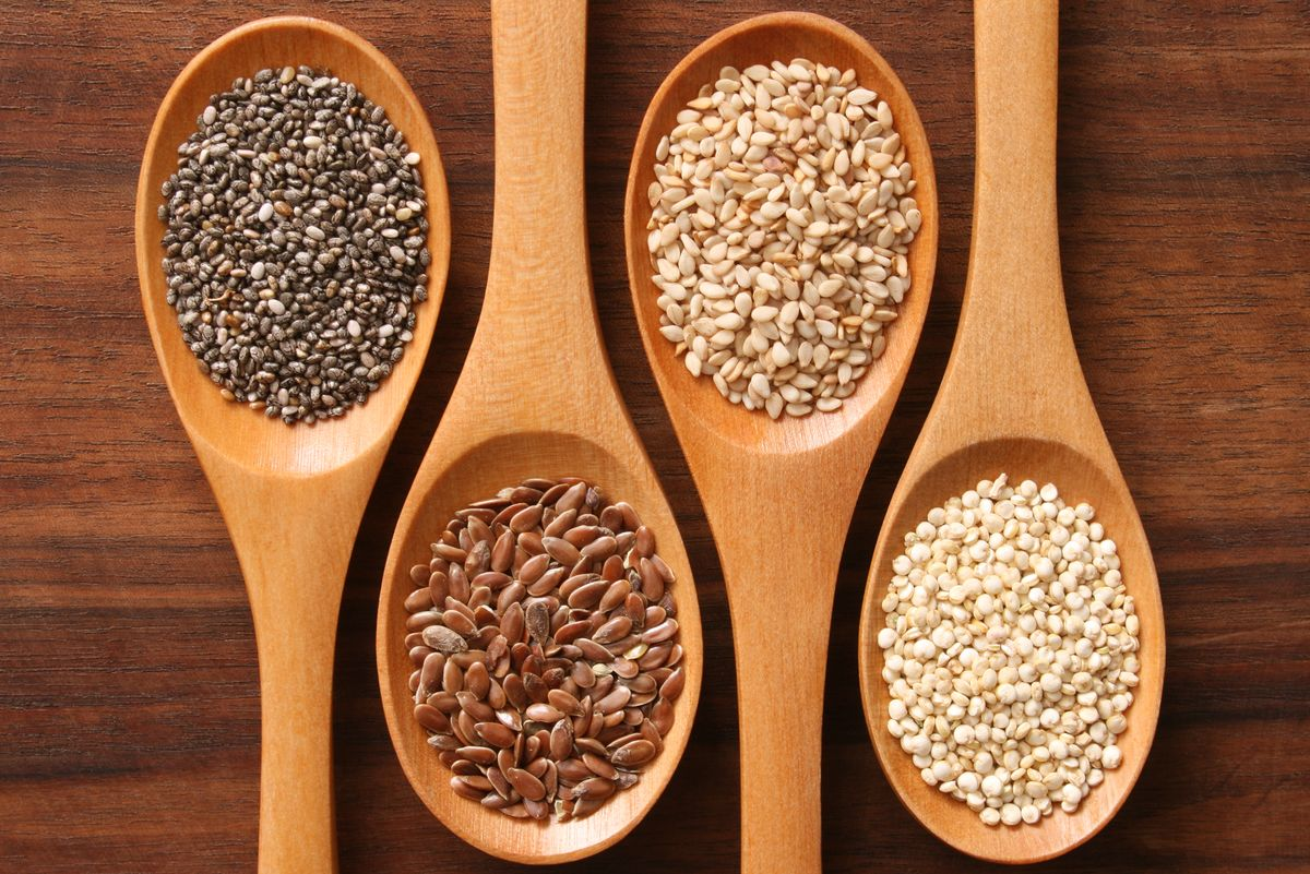 seeds, cancer, cancer prevention foods, cancer recovery, cure cancer, nutrition, sesame seeds, vitamin E, vitamin K, pumpkin seeds, flax seeds, sunflower seeds, chia seeds, healthy fats, vegetarian protein, fibre