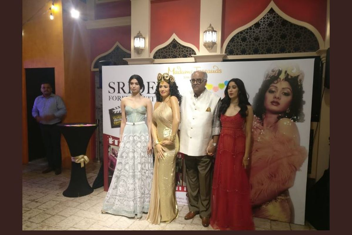 Sridevi, Boney Kapoor, Janhvi Kapoor, Khushi Kapoor, Singapore, Taran Adarsh, Madame Tussauds, Mr India