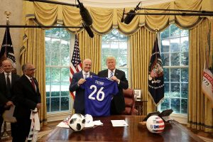 President Trump, FIFA chief discuss how to make women's football 'more equitable'