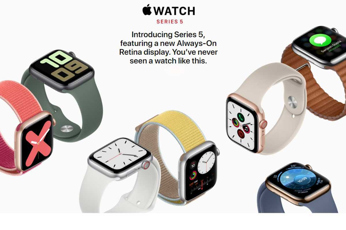 Apple introduces Series 5 watch with 'display-on' feature