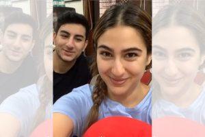 Sara Ali Khan shares a goofy video with bother Ibrahim
