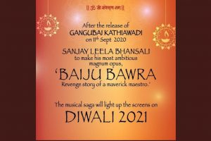After Alia Bhatt starrer Gangubai Kathiawadi, Sanjay Leela Bhansali to work on Baiju Bawra