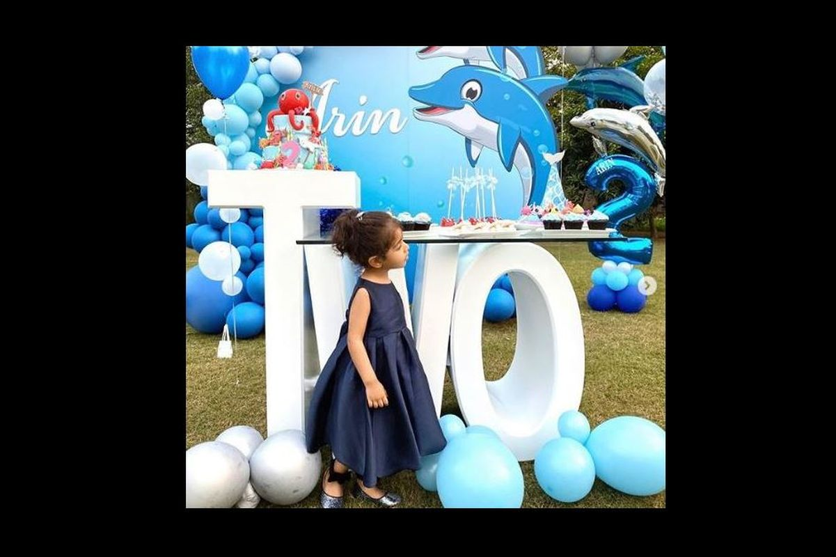 Asin celebrates daughter Arin's second birthday