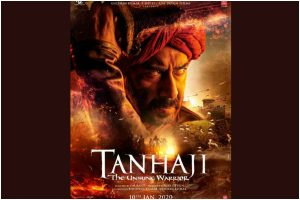 Ajay Devgn in and as Tanhaji: The Unsung Warrior, first look out