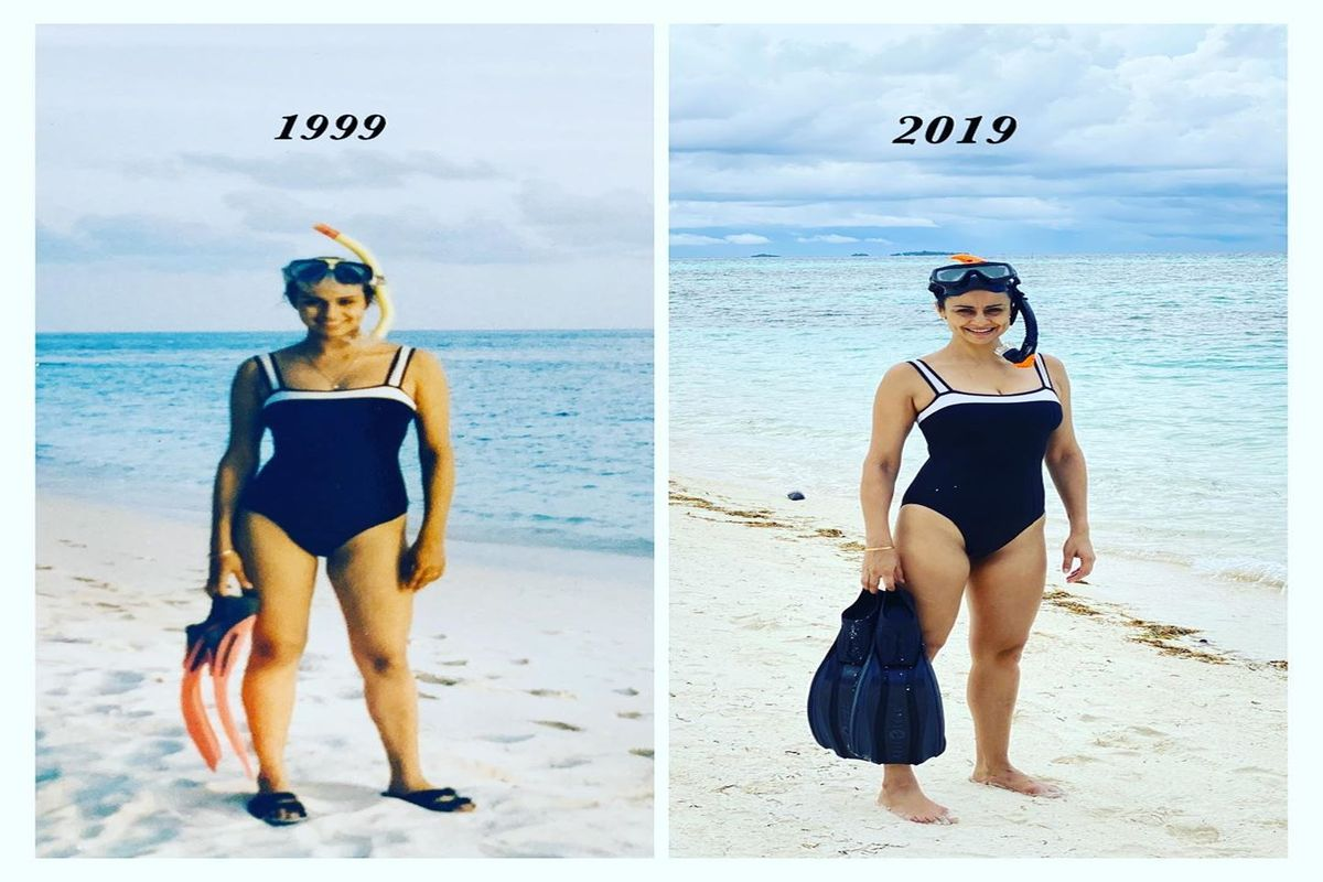 Gul Panag's #20yearchallenge pic stuns netizens, sports 1999 swimsuit on Maldives vacation