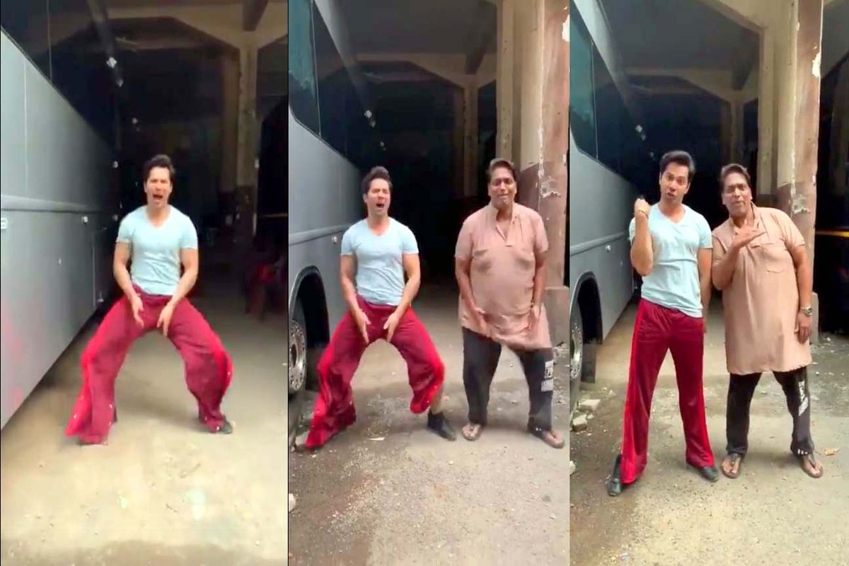 Actor Varun Dhawan, choreographer Ganesh Acharya taking Bala challenge is a hit