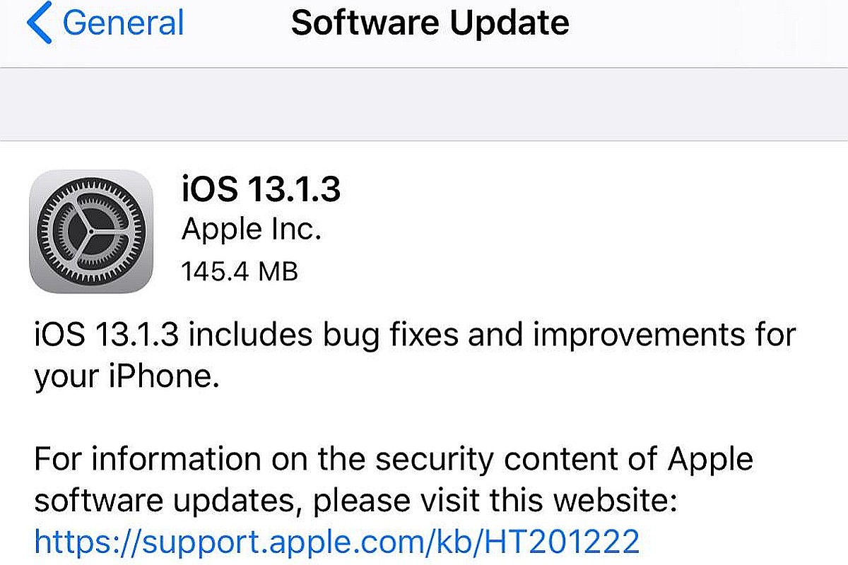 Apple releases iOS 13.1.3, iPad iOS 13.1.3 to fix bugs