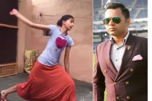 Watch   Aakash Chopra shares viral video of girl emulating Harbhajan Singh's bowling action
