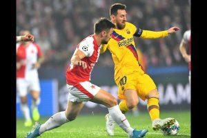 UEFA Champions League Update: Lionel Messi scores as Barcelona beat Slavia Prague 2-1