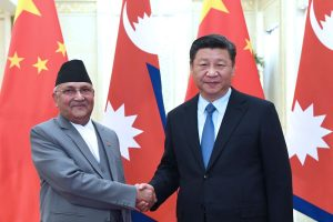Chinese President Xi Jinping in Nepal  on two-day state visit