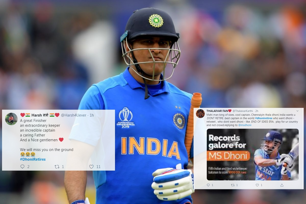Image result for 3.MS Dhoni retires became one of the top-trending hashtags on Twitter