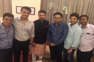 Ganguly shares image of his new BCCI team, thanks Anurag Thakur