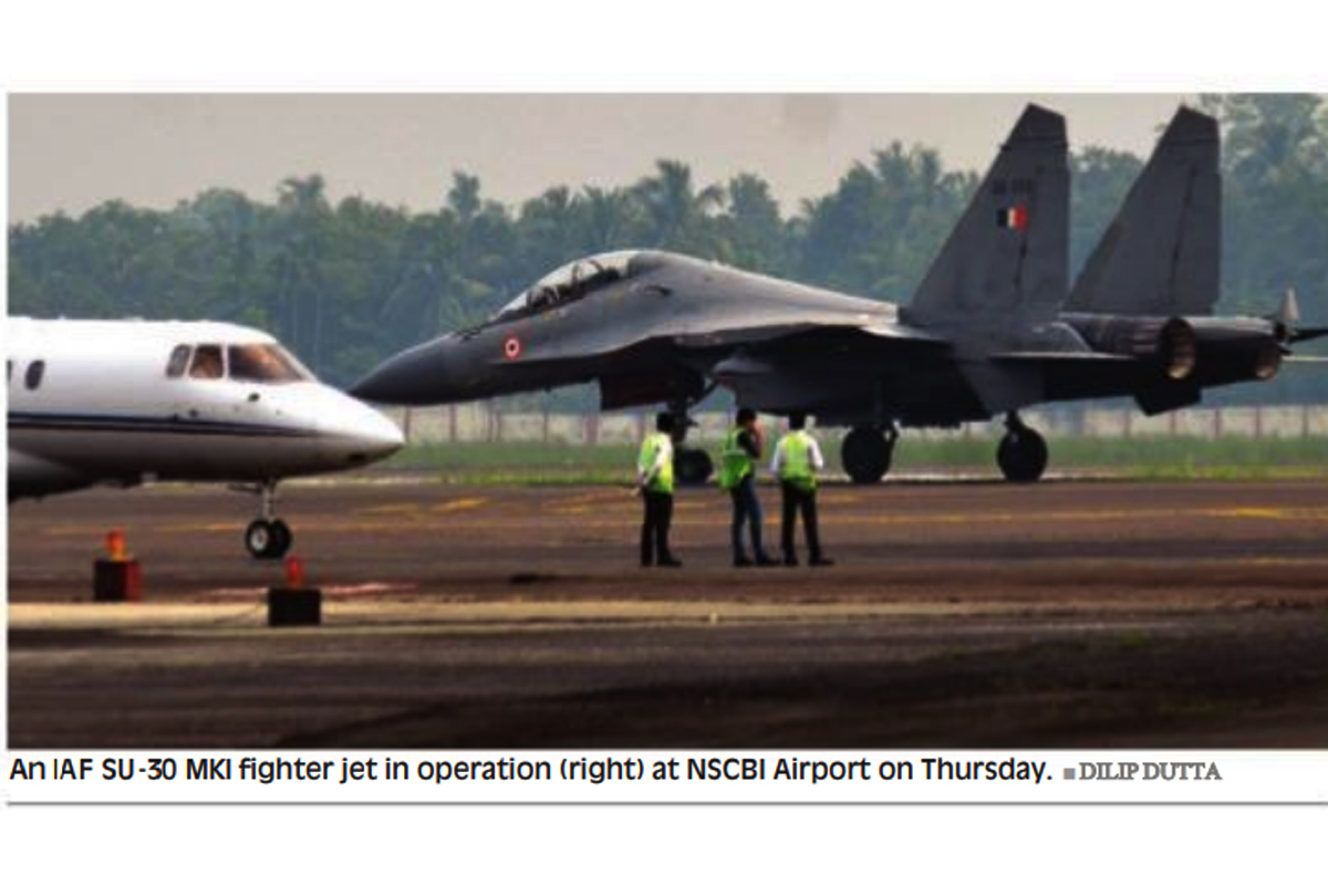 Eastern Air Command, Indian Air Force, Netaji Subhas Chandra Bose International Airport, NSCBI, Su30MKI