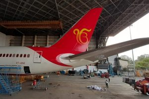 Air India observes 550th Guru Nanak' birth anniversary, paints 'Ik Onkar' on tail of Boeing plane