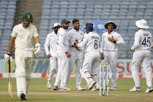 Bowlers tighten India's grip over South Africa in Pune Test