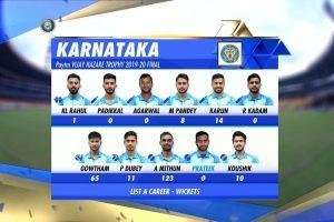 Karnataka beat Tamil Nadu by 60 runs to lift fourth Vijay Hazare Trophy