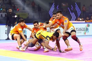 PKL 7 Update: Puneri Paltan inch Telugu Titans 53-50